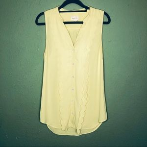 Meadow Rue (Anthropologie) Yellow Sleeveless Top 4